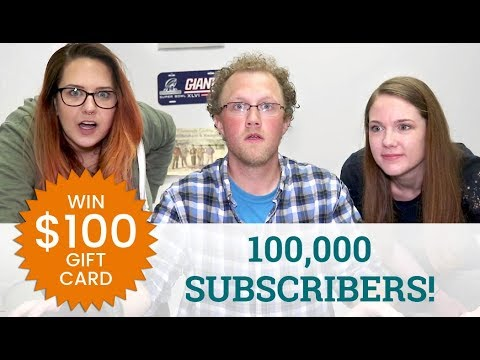 100,000 Subscribers! ($100 Gift Card Giveaway!)