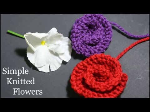 Simple Knitted Flowers