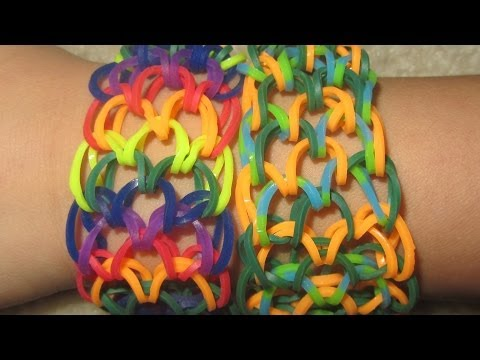 Rainbow Loom DRAGON SCALE BRACELET: Detailed Instruction How To Tutorial