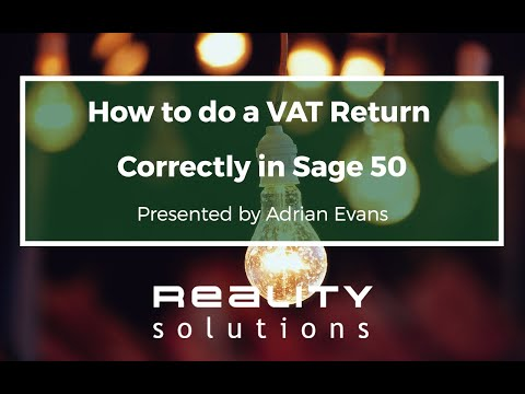 Sage 50 VAT Return - How to do a VAT Return Correctly in Sage 50 Accounts
