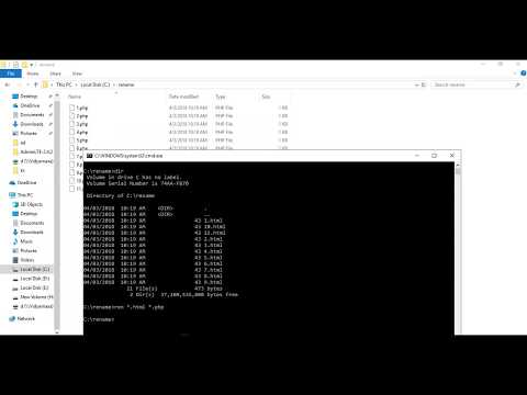 how to convert multiple files at a time using command promt