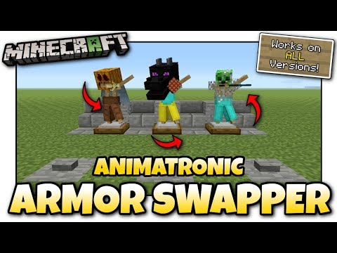 Minecraft - ANIMATRONIC ARMOR SWAPPER [ Redstone Tutorial ] Works on ALL Versions !