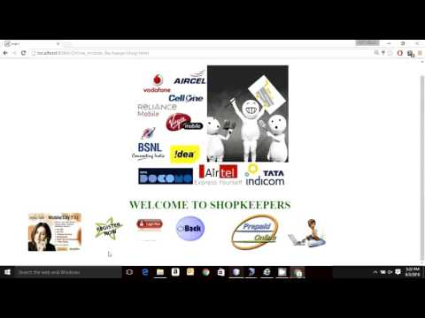 Online Mobile Recharge  Java Project