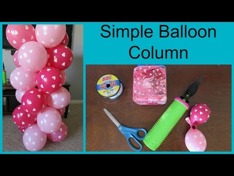 How to Make A Simple Balloon Column