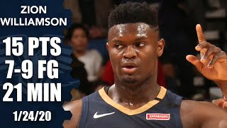 Zion Williamson gets first dunk, has monster block vs. Nuggets | 2019-20 NBA Highlights