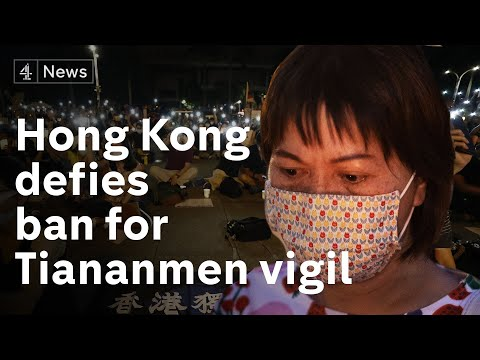 Thousands defy ban to attend Tiananmen Square anniversary vigil in Hong Kong