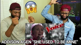 The Voice 2017 Addison Agen  Top 12 She Used To Be Mine Reaction