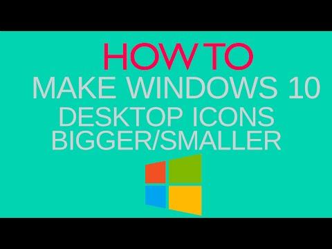 How To make Windows 10 desktop icons Bigger/Smaller   Windows Tricks [My-T3chnology]