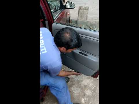 Opening Alto K10 door panel with manual window
