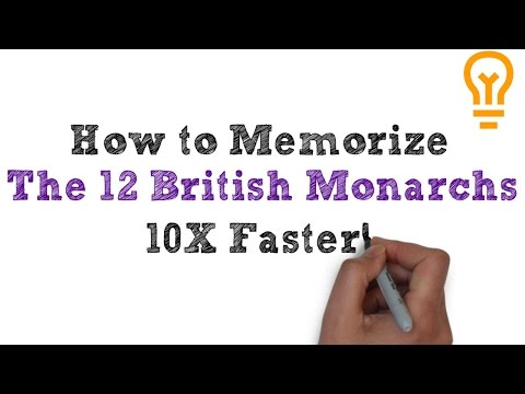 How to Memorize the 12 British Monarchs