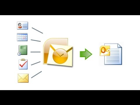 Creating PST, Backup and Restore of PST in Outlook 2013
