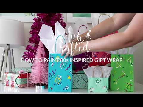 DIY 80's Inspired Gift Wrap