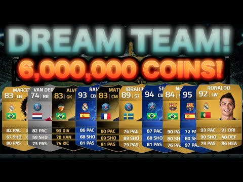 MY DREAM TEAM! | 6,000,000 COIN SQUAD BUILDER - 3 TOTY'S (FUT 14)