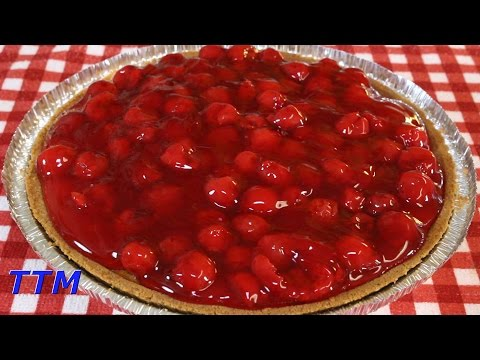 Easy Cherry Cheesecake Recipe using a Pre-Made Graham Cracker Pie Crust