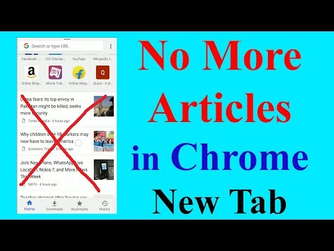 How to Disable Suggested Articles in Google Chrome Android | Som Tips