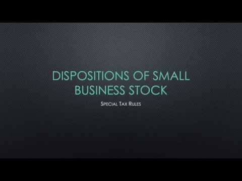 Disposing of Small Business Stock