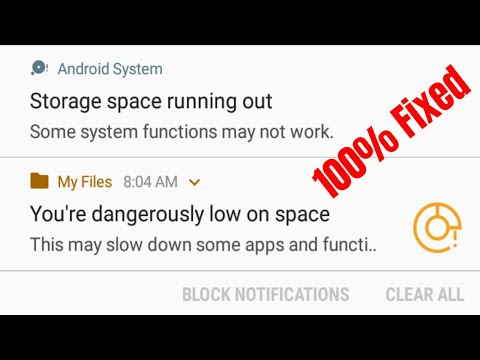 Fix Storage Space Running Out Some System Functions May Not Work
