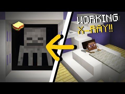 Minecraft, MCPE | How to make a Working X-Ray Machine
