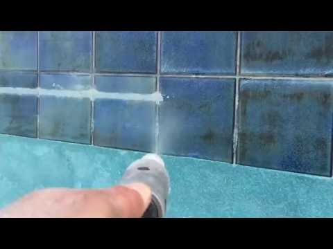 UNBELIEVABLE Los Angeles Pool Tile Cleaning & Repair Services Dry Soda Blasting