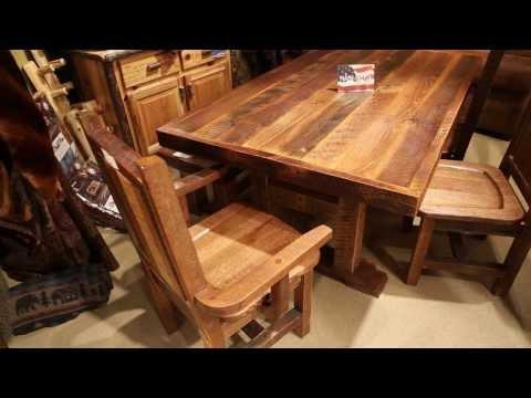 Harvest Barnwood Dining Table / Farmhouse Reclaimed Table