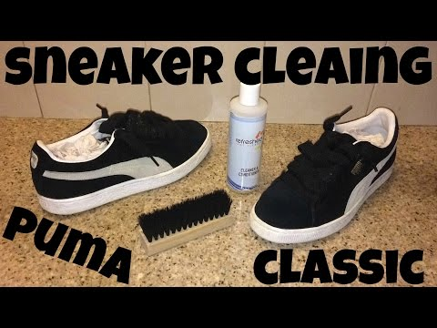 Sneaker Cleaning for Classic Suede Pumas