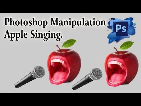 Photoshop Manipulation Apple Singing