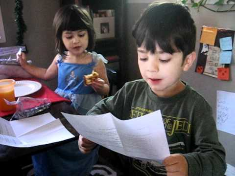 Bennett reads his letter from Santa