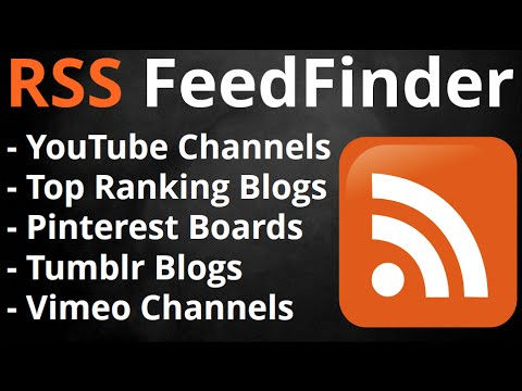RSS Feed Finder - How to find