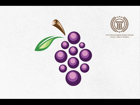 How to Design a Grape Logo in Adobe illustrator CS6 - Grapes Logo Design Tutorial