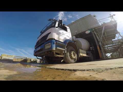 Concrete Mixer Truck Working - GoPro Hero 5 Black Full HD Footage