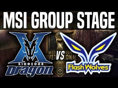 KZ vs FW - MSI 2018 Group Stage Day 3 - Kingzone DragonX Up vs Flash Wolves | LoL MSI 2018