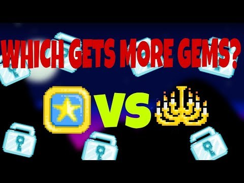 Chandelier Vs Pinball! Which is the better farmable!   Growtopia