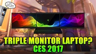 Triple Monitor Laptop! CES 2017 - This Week in Gaming | FPS News