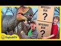 Dinosaur Mystery Box Challenge Giant Life Size Dinosaurs For Kids Playground Adventure With Toys
