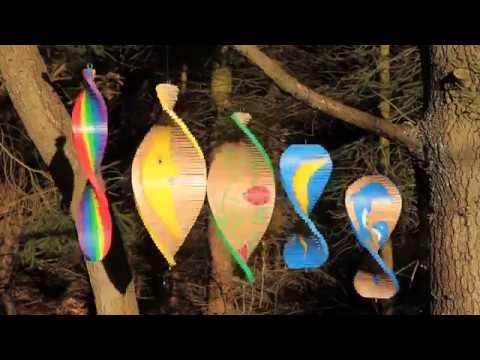 Wooden Garden Wind Spinners