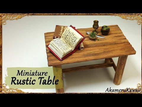 Rustic Miniature Table - Simple Wood Tutorial
