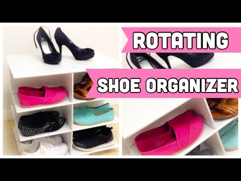 ROTATING shoe organizer made out of cardboard