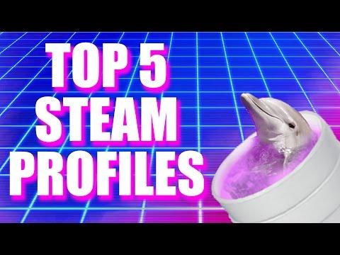 #2: TOP 5 STEAM PROFILES - TOP ARTWORK STEAM, BEST DESIGNS, BEST ANIMATIONS