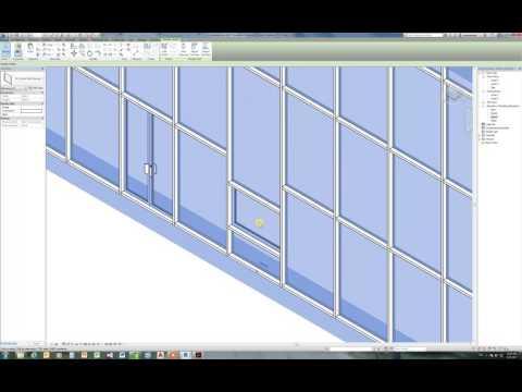 Revit 2017 Curtain wall insert doors and windows