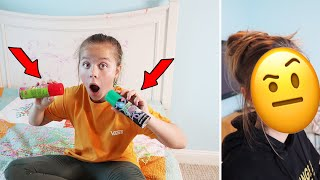 I DESTROYED MY SISTERS BEDROOM WITH SILLY STRING | SORRY IT