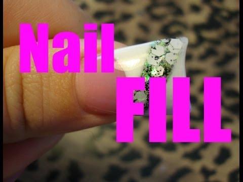 Acrylic nail fill - Real time