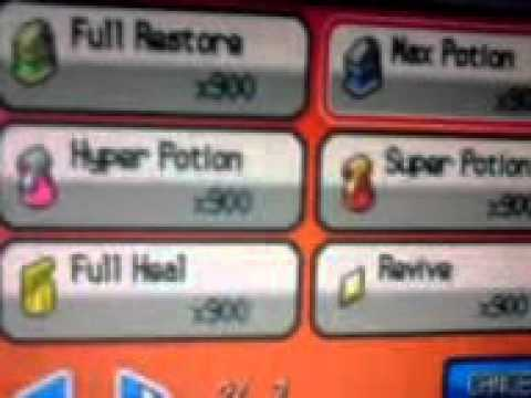 900 Rare Candies + All Medical Items in HeartGold