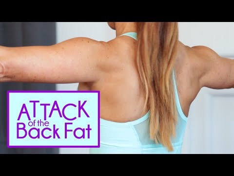 Attack of the Back Fat | Get rid of the Bra Bulge Exercises | Natalie Jill