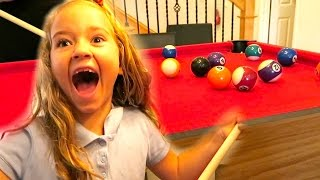 KIDS PLAYING POOL | A Mini Pool Table | THIS WAS AMAZING!