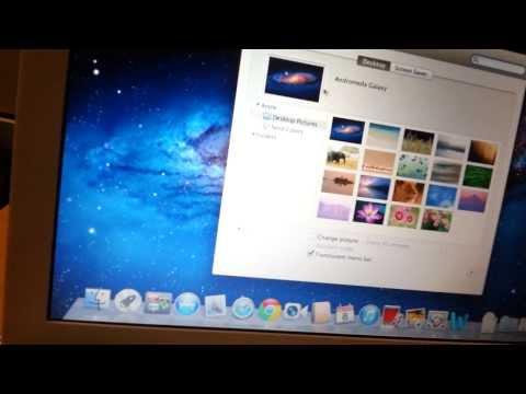 How to change Desktop background image on macbook