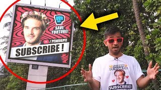 PewDiePie Billboards in INDIA | T-Series vs PewDiePie