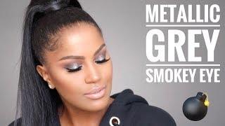 Easy Metallic Grey Smokey Eye   MakeupShayla