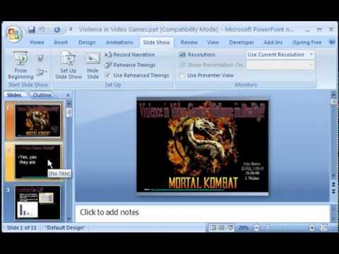 Converting Microsoft PowerPoint to Flash SWF