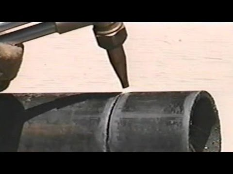 Pipe Cutting, cutting holes with a torch