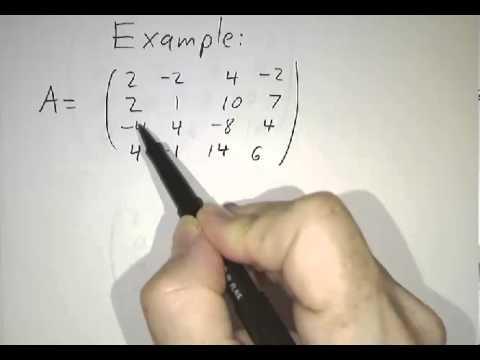 Row reduction, row-echelon form and reduced row-echelon form